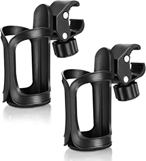Accmor Stroller Cup Holder, Universal Cup Holder, 360 Degrees Rotation Drink Holder for Stroller, Bike, Wheelchair, Walker,Trolleys,2 Pack