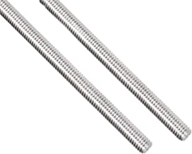 YXQ M4 x 500mm 304 Stainless Steel Rod Fully Right Hand Threads(2Pcs)
