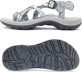 Viakix Walking Sandals Women -Stylish Comfortable Athletic Sandals for Hiking, Water, Outdoors, Sports