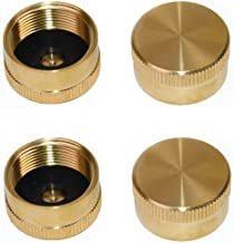 DozyAnt Pack of 4 Solid Brass Refill 1 LB Propane Bottle Cap Gas Tank Cylinder Sealed Cap - 4 pcs