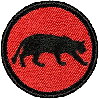 Retro Red and Black Panther Patrol Patch - 2