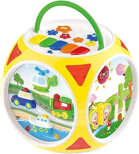 LBBZJM Table de Jeu de Puzzle, hexaèdre Jouer développeHommest Intelligence bébé bébé Multi-Face Maison,jaune