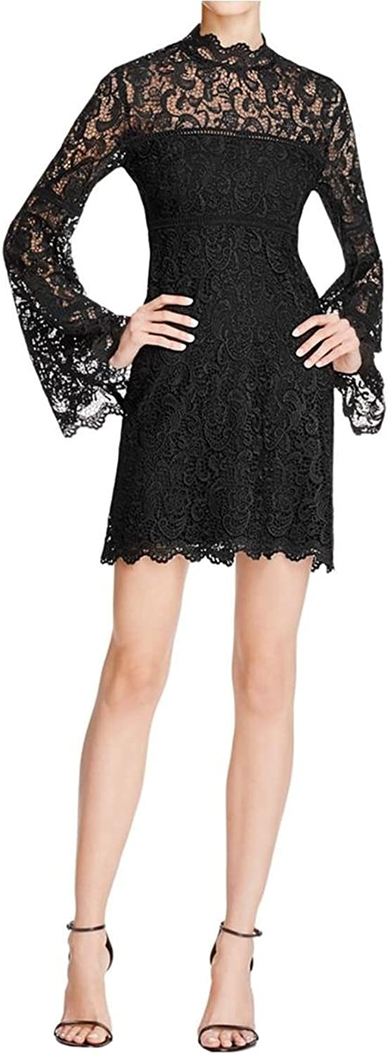 Bardot Womens Sansa Crochet Scalloped Clubwear Dress