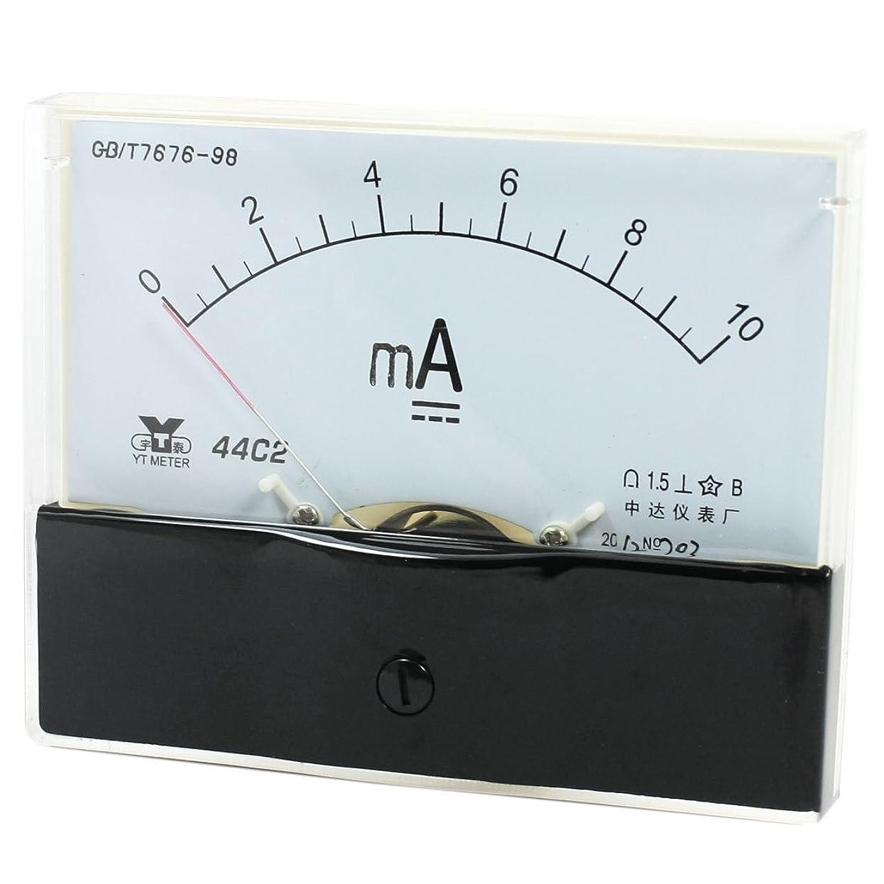 確かにバナーグレートオークuxcell アナログパネル電流計 アナログ電流計 0-10mA アンペアの範囲 44C2測定 DC ゲージ 精度:1.5