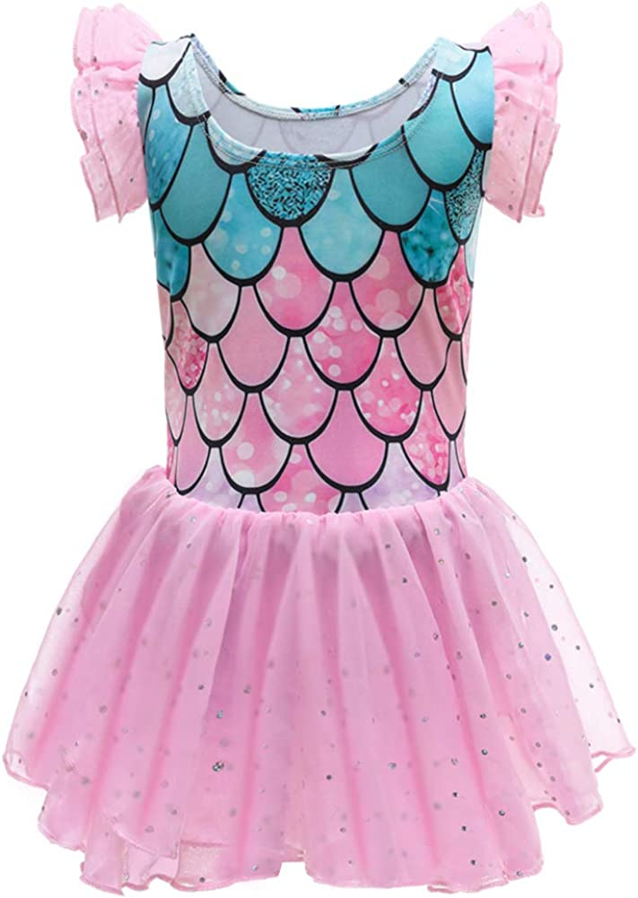 LZH All stores are sold Ballet Dance Dress for Girls Virginia Beach Mall Sleeve with Ruffle Leotard Tut