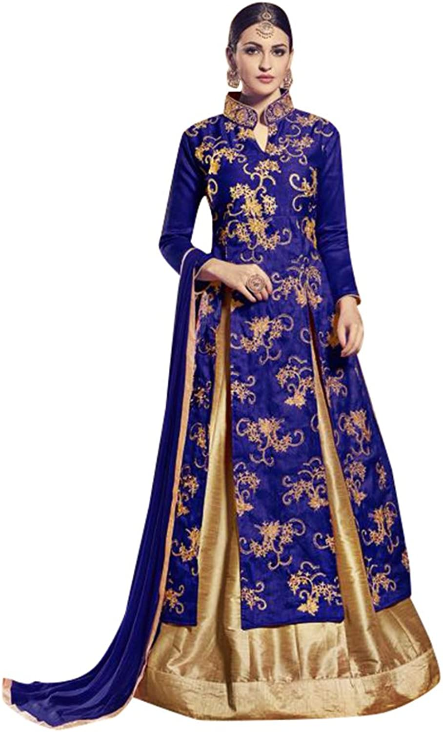 Bollywood Collection Anarkali Salwar Kameez Suit Ceremony Bridal Muslin 704 12