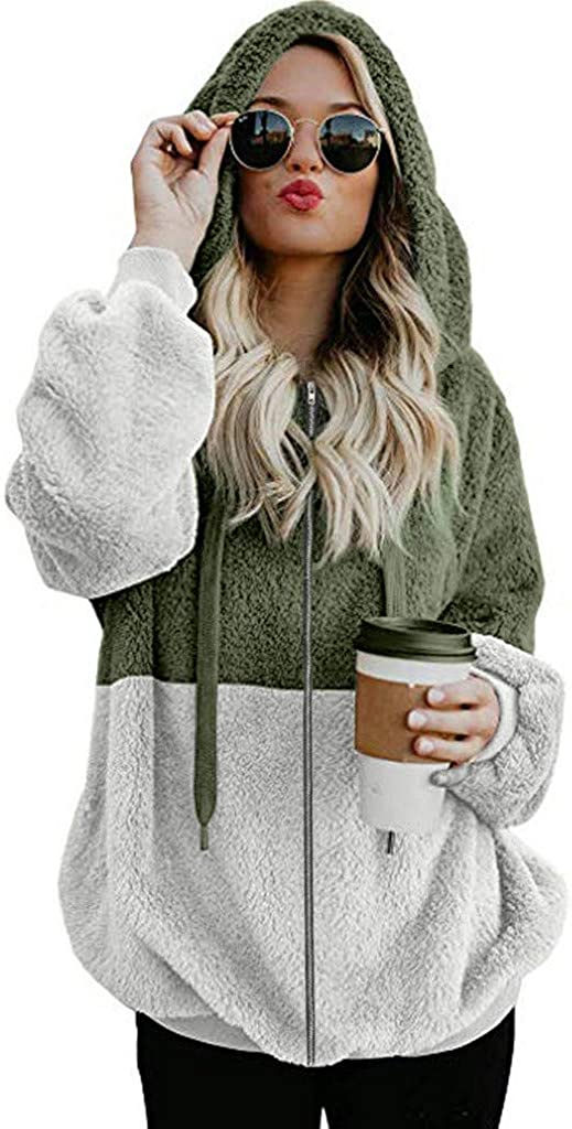 Hotkey Women Hoodies Directly managed store Coat Oversized Sweatsh Las Vegas Mall Pocket Hooded Zipper