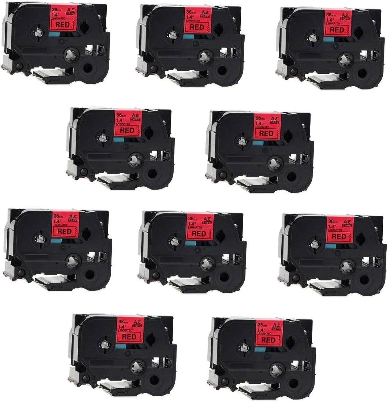 Prestige Cartridge TZstrongadhesive461 kompatibel zu Brother P-Touch Etikettendrucker PT11Q, schwarz rot B010XHWUXY    Zuverlässige Leistung