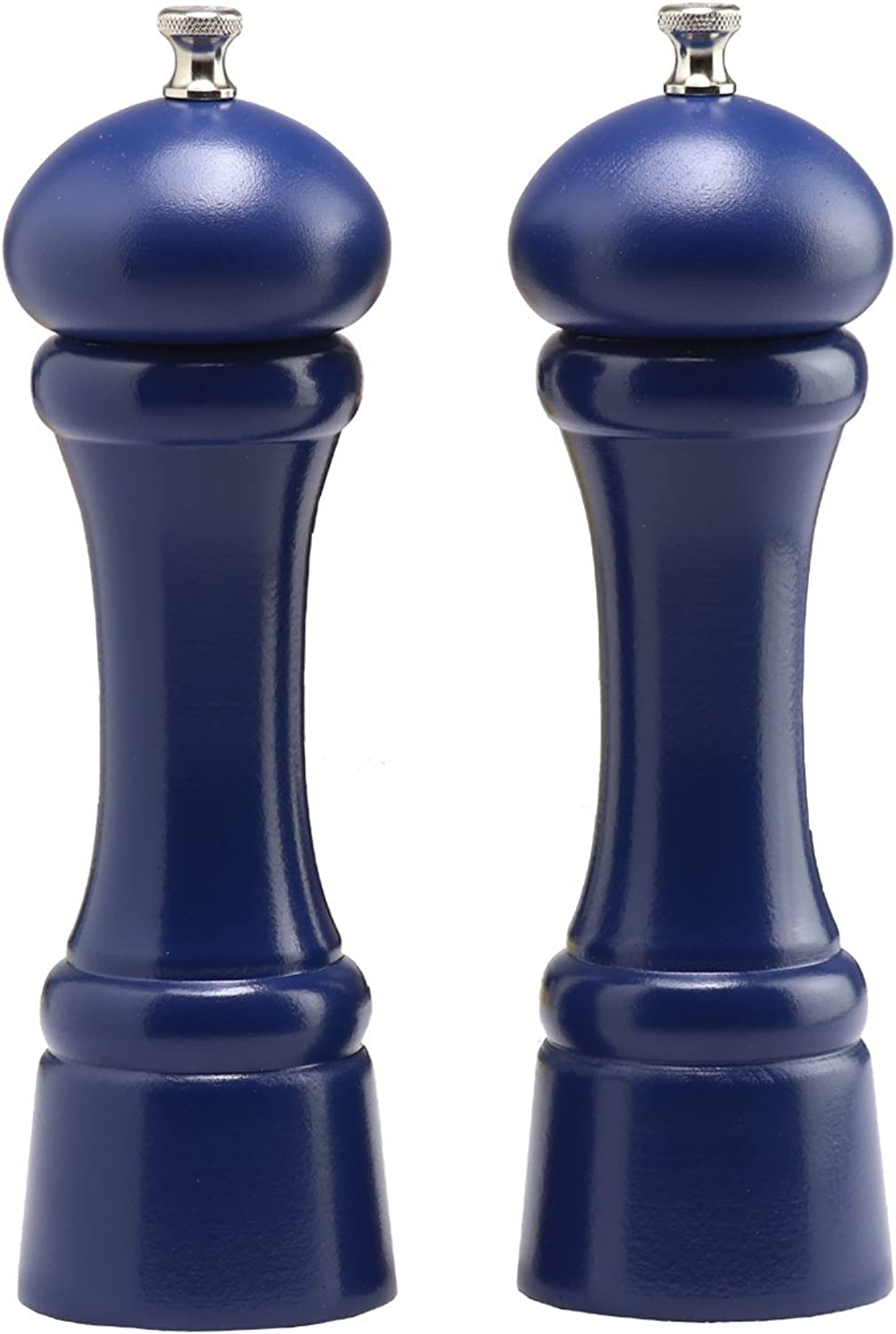 Chef Specialties 8  Windsor Pepper Mill and Salt Mill Set, Cobalt bluee