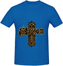 Saxon Stgeorges Day Sacrifice Live in Manchester Funk Mens Crew Neck Cool Shirts