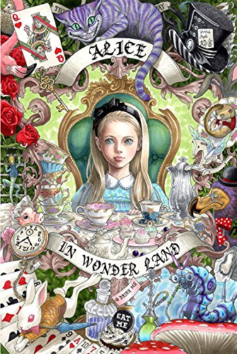 HCYL Alice in Wonderland 1000 Pieces Wood Jigsaw Puzzle,Perfect Choice for The Puzzle Lover