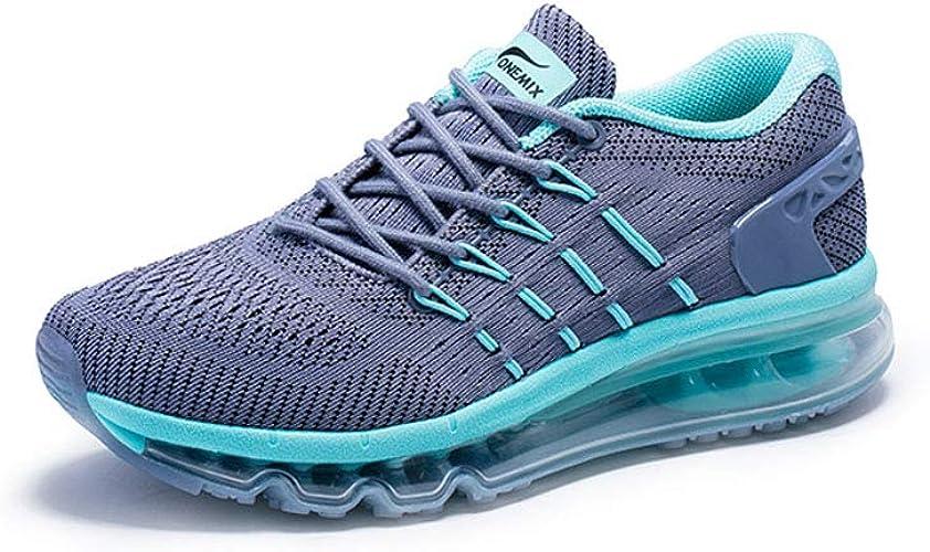 ONEMIX Chaussures de Sport pour Femme Absorption des Chocs - gris - gris, 36.5 EU