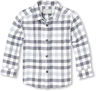 The Children's Place Boys' Long Sleeve Button Down