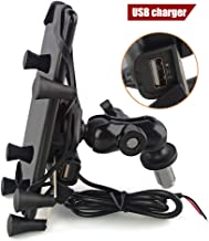 LILSIS Motorcycle phone Mount Holder with USB Charger Fit for 3.5-6.5inches Phone for Yamaha R1 R6 BMW S1000RR Honda F5 CBR650F VFR1200