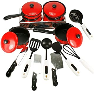 Children Play House Kitchen Toy Set,13 Pcs Simulation Cutlery Set for Boys And Girls Toys Children's Play House Kitchen Toy Sets