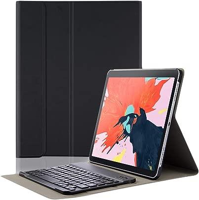 Proslife iPad Tastatur  2018 Ipad pro 11 Wireless Tastatur H lle Magnetische Separable Tastatur Ultra D nnes TPU-Leder