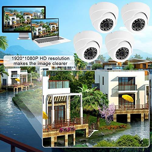 Kafuty 1080P HD 4 en 1 AHD/TVI/CVI/CVBS Impermeable NTSC Cámara de visión Nocturna para Exteriores Cámara de Seguridad para el hogar IP66 Cámara Impermeable con 20 m de Distancia de visión (UE)