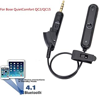 Hidream Wireless Receiver Bluetooth Adapter Converter Cable For Bose QC2/QC15 Headset