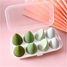 MIAOMIAO 8 stks Professionele Cosmetica Sponge Puff Blend Color Beauty Foundation Concealer Cream Make Up Soft Water Spong...