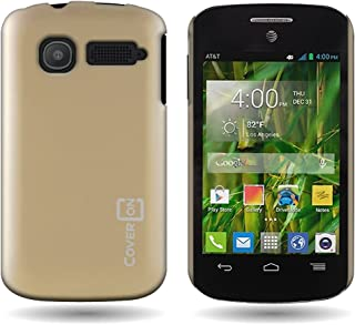 Alcatel One Touch POP C1 Back Cover, by CoverON [Slender Fit] Series, Protective Hard Extra Slim Rubberized Matte Finish Case - Gold