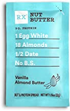 RX Nut Butter, Vanilla Almond Butter, 10 Count, Keto Snack, Gluten Free