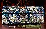 XYLUCKY Caja de joyería de princesa hecho a mano de madera alto - fin cajas de joyería con espejo y cajones de almacenamiento colección regalos