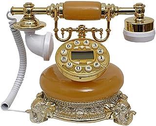 Classic Vintage Phone, Retro Style Resin Button Fixed Telephone Fashion Living Room Decoration Retro Landline