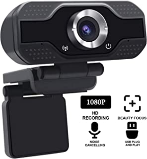 SANNCE 1080p HD USB Webcam with Microphone for Live Broadcast Stream, Conferencing, Gaming & Working, Laptop & Desktop Com...
