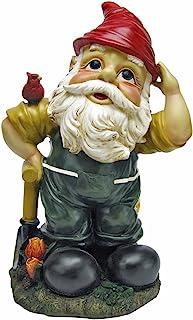 Design Toscano QL152650 Garden Gnome Statue - Dieter the Digger Garden Gnome - Lawn Gnome