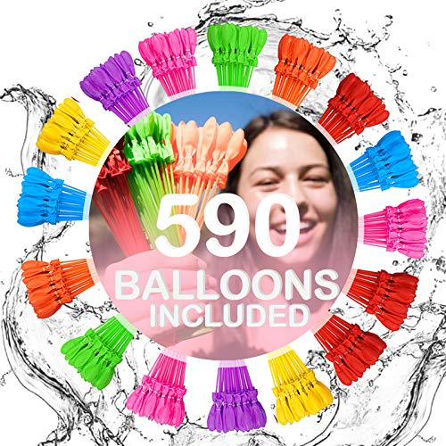 Family Made Company Water Balloons for Kids Boys & Girls Adults Party Easy Quick Summer Splash Fun Outdoor Backyard for Swimming Pool (Multicolored ptst)