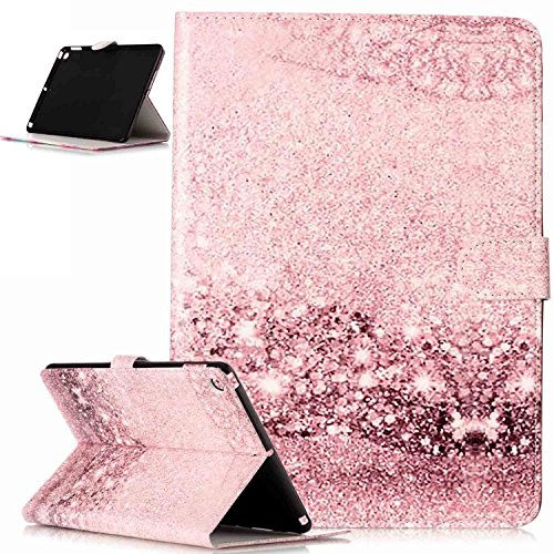 Coque iPad 9.7 2017,Etui iPad 9.7 2017,Motif Marbre fleur coloré peint Housse Cuir PU Housse Etui Coque Portefeuille Protection supporter Flip Case Etui Housse Coque pour iPad 9.7 2017,doré rose