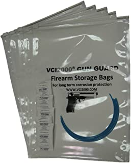 Pistol Storage bags - Anti Corrosion Firearm Storage Bags -VCI (Pack of 5)