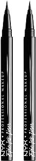 NYX PROFESSIONAL MAKEUP Epic Ink Liner, Waterproof Liquid Eyeliner, Black, Pack Of 2