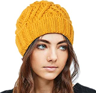 بوهيند شتاء محبوك قبعة صغيرة دافئة قبعة صغيرة لينة تمتد كابل اكسسوارات الشعر للنساء والفتيات الأسود