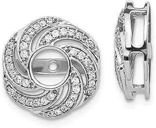 14k White Gold Swirl Diamond Jacket Earrings Ejm Fine Jewelry Gifts For Women For Her