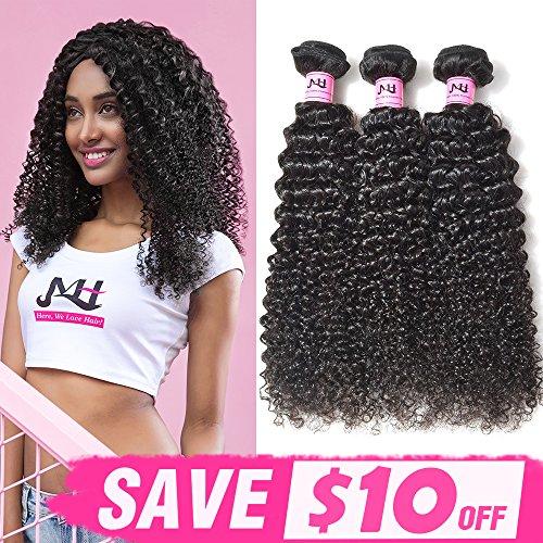 "JVH Unprocessed Brazilian Curly Virgin Human Hair Weave 4 Bundles Remy Brazilian Sexy Kinky Curly Hair Extensions (20""22""24""26"")"