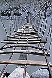 791046 A Suspension Bridge Over River Hunza Northern