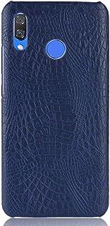For Huawei Nova 3 Case PU Leather Back Cover Crocodile Pattern-Blue