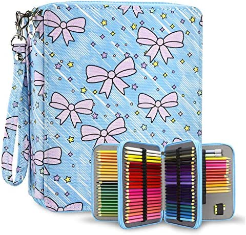 YOUSHARES 120 Slots Colored Pencil Case Oxford Fabric Pen Case with Compartments Pencil Holder product image