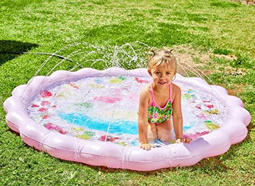 68' Sprinkle & Splash Play Mat, Sprinkler Toy for Kids Outdoor Water Toys, Splash Pad for Baby...