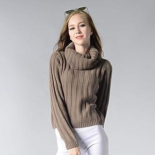BINGSL JerséIs SuéTer,Otoño Invierno Mujer Suéteres y Jerseys Estilo Manga Larga Casual Crop Sweater Slim Solid Knitted Ju...