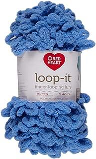 RED HEART E884.0851 Loop-It yarn Blue-Ming