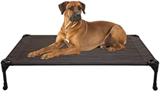 Veehoo Elevated Dog Bed, Portable Raised Pet Cot, Sturdy & Breathable Mat, Durable Textilene Mesh Fabric, No-Slip Feet, In...