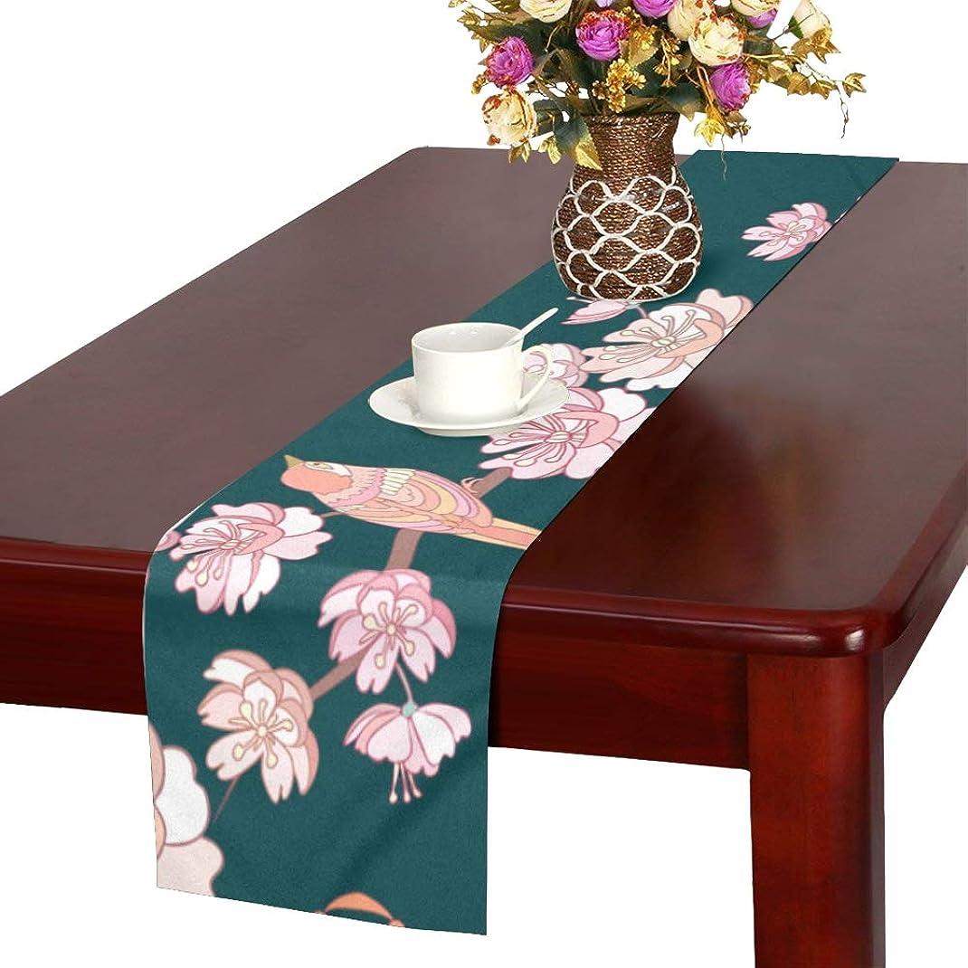 抽象化のみ銛LKCDNG テーブルランナー 和風の桜 クロス 食卓カバー 麻綿製 欧米 おしゃれ 16 Inch X 72 Inch (40cm X 182cm) キッチン ダイニング ホーム デコレーション モダン リビング 洗える