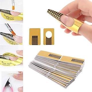 Ealicere 220 hojas oro Bandeja de papel de manicura: Necesario para la extensión de uñas Plantilla de bandeja de papel de ...