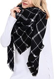 Women's Plaid Blanket Winter Scarf Warm Cozy Tartan Wrap...