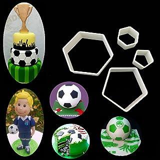 Football Soccer molds 4pcs/set, Soccer DIY fondant molds cutters soccer world cup Sugar craft moulds cake desserts Decorat...