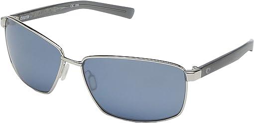 Shiny Silver Frame/Gray Silver Mirror Lens 580P
