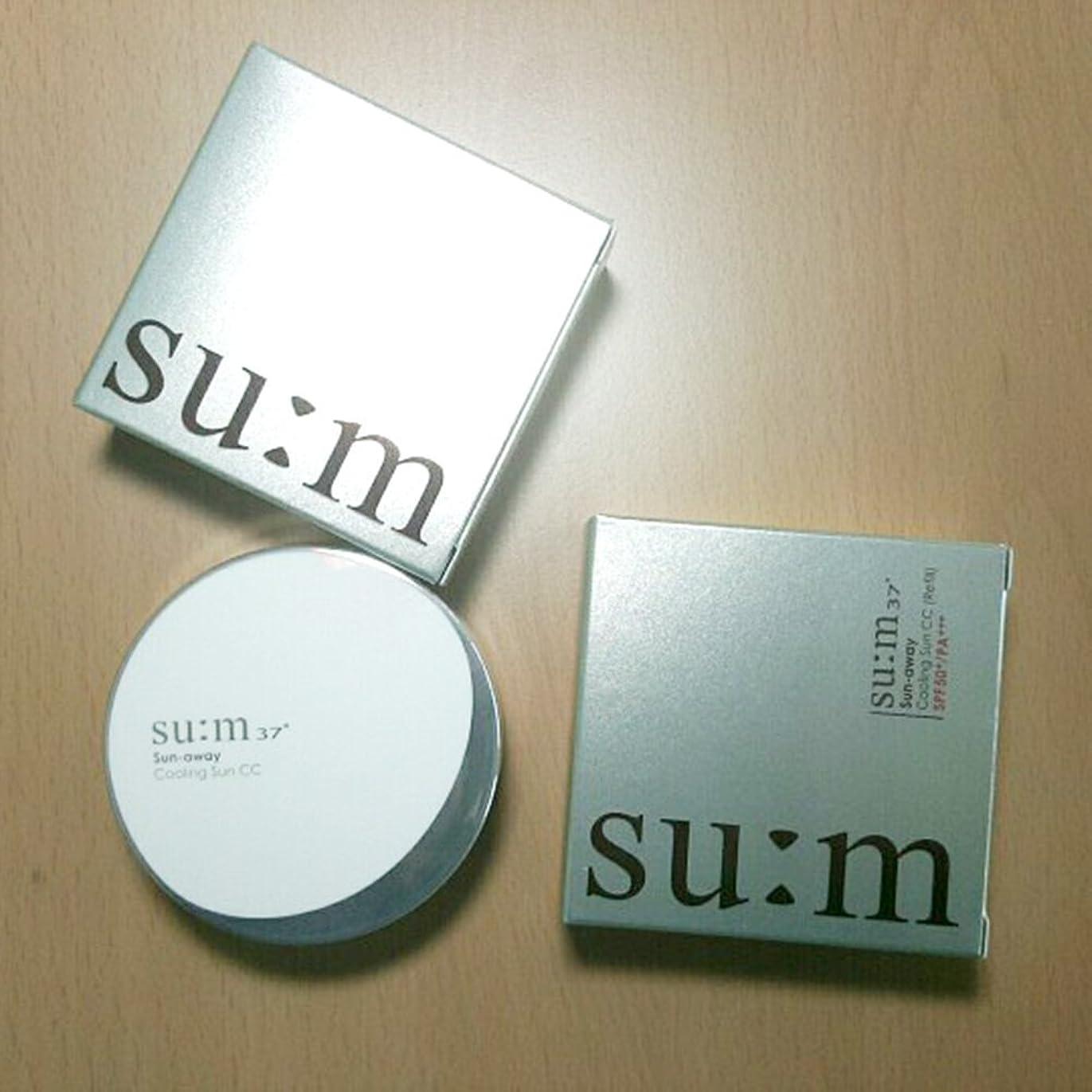 ビーチシンカン深い[su:m37/スム37°] SUM37 Sun-away Cooling Sun CC cushion 本品1個+リフィル2個/スム37 サンアウェイ クーリングサンCC 企画 +[Sample Gift](海外直送品)