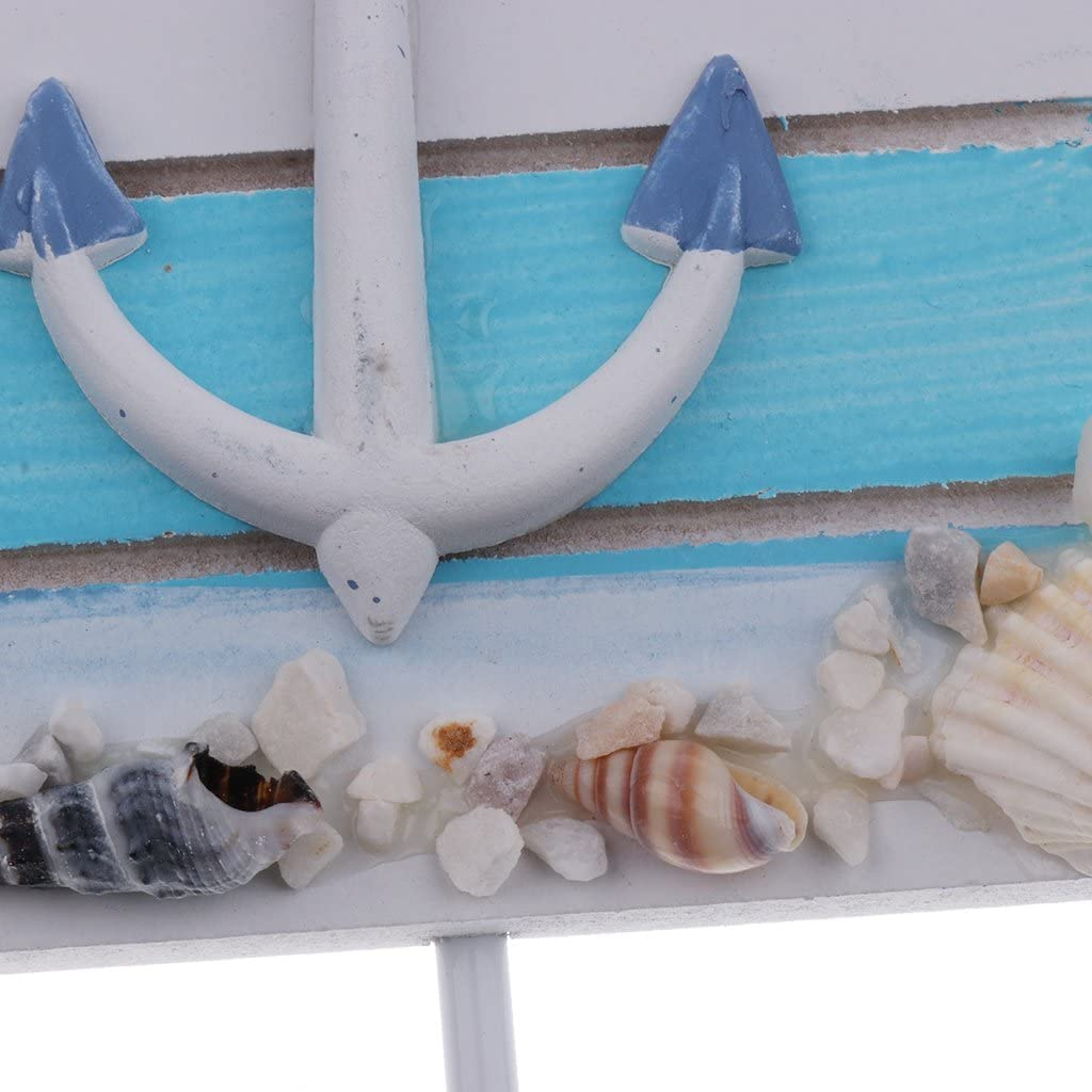 Sharplace Beach Themed Wall Hooks Towel Hat Coat Hangers Rustic Wall Nautical Decorative Hangers Anchor 16.5 x 11cm
